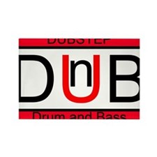 Dubstep Drum and Bass Rectangle Magnet