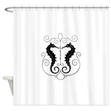 Twin Seahorses Shower Curtain