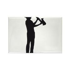 saxophon player Rectangle Magnet