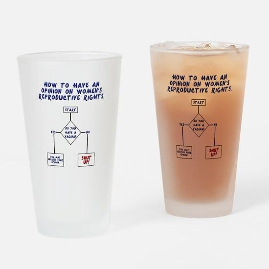 Pro Choice Chart Drinking Glass