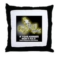 Hammer Mechanic Throw Pillow