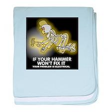 Hammer Mechanic baby blanket