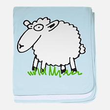comic sheep baby blanket