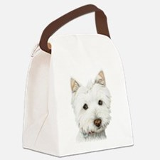 pastel on canvas westie.jpg Canvas Lunch Bag