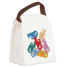 Colorful Euphoniums Canvas Lunch Bag