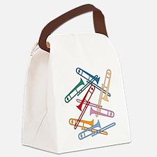 Colorful Trombones Canvas Lunch Bag