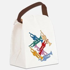 Colorful Trumpets Canvas Lunch Bag