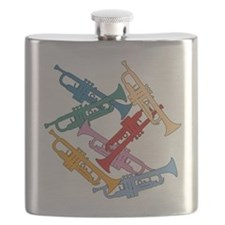 Colorful Trumpets Flask