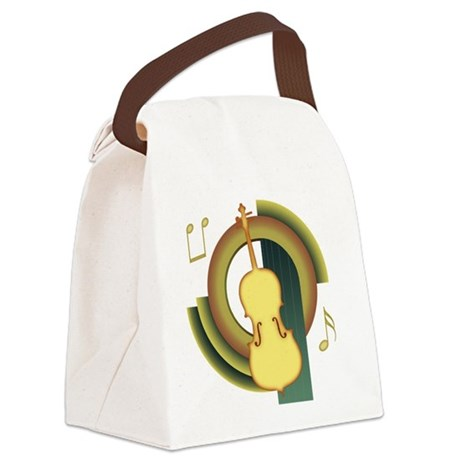 Cello Deco Canvas Lunch Bag
