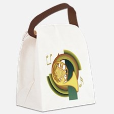 French Horn Deco Canvas Lunch Bag