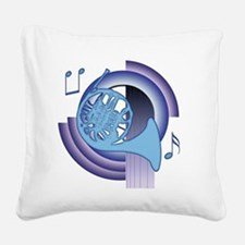 French Horn Deco 2 Square Canvas Pillow
