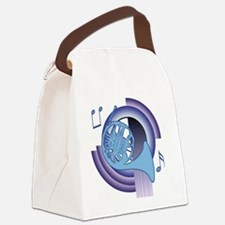 French Horn Deco 2 Canvas Lunch Bag