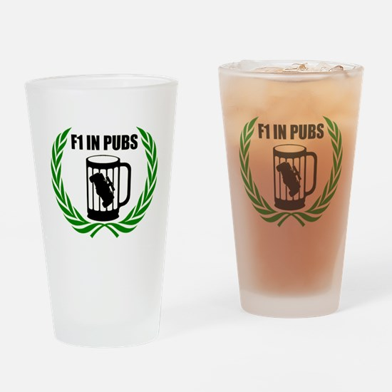 F1 in Pubs Drinking Glass