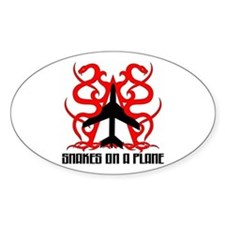 Snakes on a Plane Tribal Oval Decal