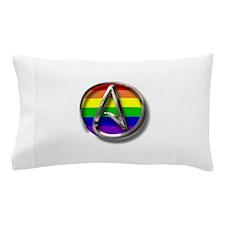 LGBT Atheist Symbol Pillow Case