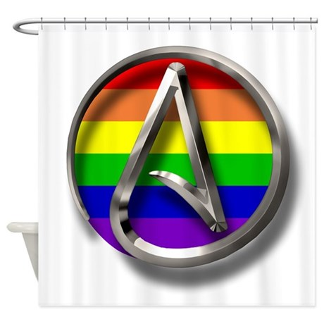 LGBT Atheist Symbol Shower Curtain