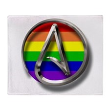 LGBT Atheist Symbol Throw Blanket