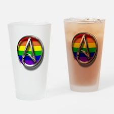 LGBT Atheist Symbol Drinking Glass