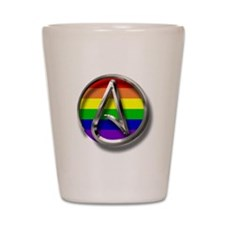 LGBT Atheist Symbol Shot Glass