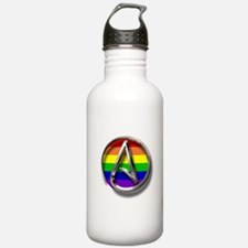 LGBT Atheist Symbol Water Bottle