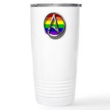LGBT Atheist Symbol Travel Mug