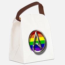 LGBT Atheist Symbol Canvas Lunch Bag