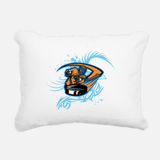 Ice Hockey. Rectangular Canvas Pillow