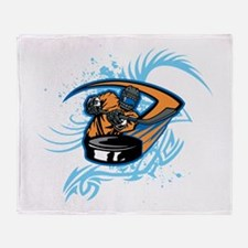 Ice Hockey. Throw Blanket