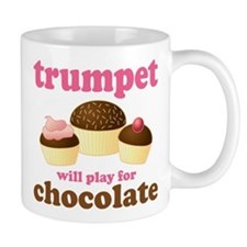 Trumpet Chocolate Music Mug