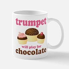 Trumpet Chocolate Music Mug