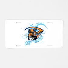 Ice Hockey. Aluminum License Plate