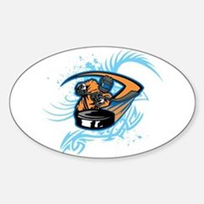 Ice Hockey. Sticker (Oval)