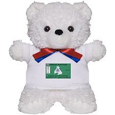 Great Britain/UK Zombit Hunting Permit Teddy Bear