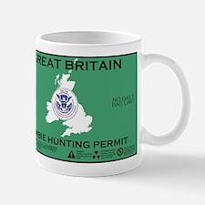 Great Britain/UK Zombit Hunting Permit Mug