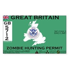 Great Britain/UK Zombit Hunting Permit Decal