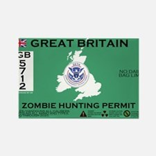 Great Britain/UK Zombit Hunting Permit Rectangle M
