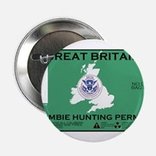 """Great Britain/UK Zombit Hunting Permit 2.25"""" Butto"""