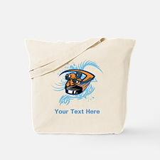 Ice Hockey. Custom Blue Text. Tote Bag