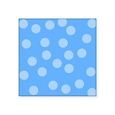 "Blue Dots Pattern. Square Sticker 3"" x 3"""
