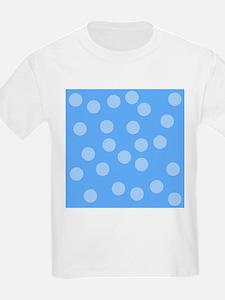 Blue Dots Pattern. T-Shirt