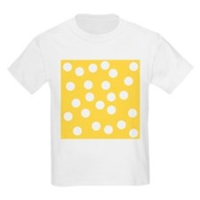 Dots Pattern in Yellow. T-Shirt