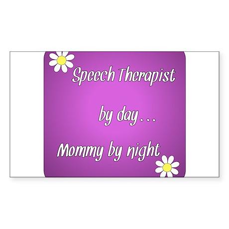 Speech Therapist by day Mommy by night Sticker (Re