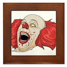 Evil clown Framed Tile
