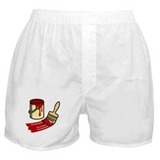 Paint Can & Brush Boxer Shorts