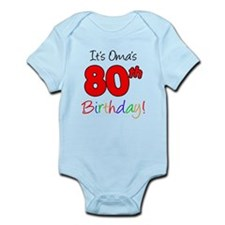 Oma 80th Birthday Infant Bodysuit
