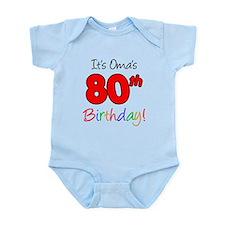 Oma 80th Birthday Infant Bodysuit
