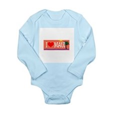 I love Maui Long Sleeve Infant Bodysuit