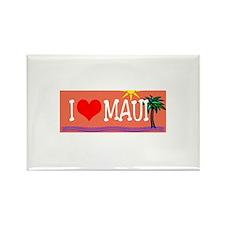 I love Maui Rectangle Magnet