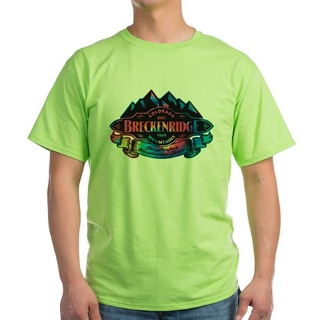 Breckenridge Mountain Emblem Green T-Shirt
