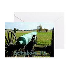 Cannon on Battlefield, Gettysburg, Greeting Card